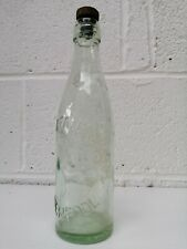 Rare Threlfall Vintage Bottle Bottle With Screw Stopper Clear Glass 29cm Tall