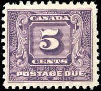 Mint H Canada 1930-32 F-VF Scott #J9 5c Postage Due Stamp
