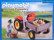 Deluxe Fattoria Country Life Farm Play giocattolo Set Trattore Rimorchio Animali Mucca Pecora Nuovo