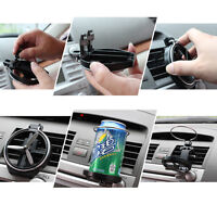 Car Auto Truck Folding Cup Bracket Bottle Drink Holders Wind Air A/C Outlet Cup