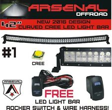 2016 #1 42 inch Curved 240W CREE LED Light Bar by Arsenal Offroad TM spot flood