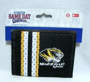 University Of Missouri Tigers Mizzou Men's Bi-Fold Team Wallet Mesh Jersey B-15