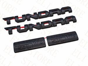 2014-2021 TOYOTA TUNDRA BLACKOUT EMBLEMS OVERLAY KIT GENUINE OEM iForce 5.7L V8