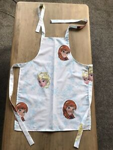 New Washable Childrens Fabric Frozen Anna elsa Full apron One Size Fits 3-13year