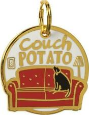 Primitives by Kathy Dog Collar Charm made of Hard Enamel - Couch Potato 1.2 inch