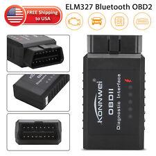 Car Bluetooth OBD2 Reader Code Scanner Automotive Diagnostic Tool OBDII ELM 327