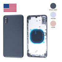Back Glass Housing Battery Cover Frame Assembly For iPhone X XR XS Max OEM USA