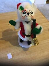 "Annalee 2009 6""  Christmas Bell Ringer Mouse in Santa Suit"