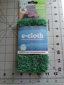 E-Cloth KITCHEN DYNAMO Microfiber Cleaning Cloth Sinks Faucets Counters Glasses