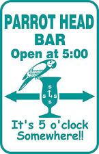 Custom Buffett Parrothead Bar Beer Beach Pool Key West Tropical Gift Sign #13