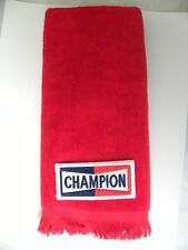 Champion fingertip TOWEL  FREE SHIP  racing campeon car motorcycle stock red