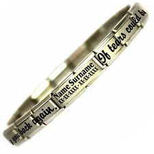 TEARS BUILD A STAIRWAY In Memory Verse Stainless Steel Bracelet Fits Nomination