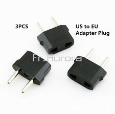 3pcs US/USA to European EU Travel Charger Adapter Plug Outlet Power Converter