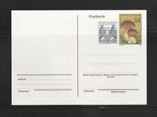 entier postal  carte  Autriche  2 timbres dont champignon  neuf