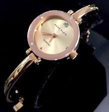 Ladies Genuine Anne Klein Diamond Designer Watch Rose Gold Bangle Watch AK/1946