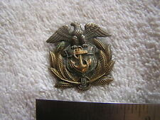 Vintage Military WWII Anchor Sterling and 1/20 10K Pin