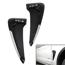 For BMW X5 F15 2014+ Side Wing Air Flow Fender Grill Intake Vent Trim
