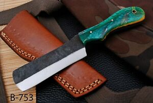 """8"""" Custom Hand Forged Railroad High Carbon Steel Hunting Bull Cutter Knife (753)"""