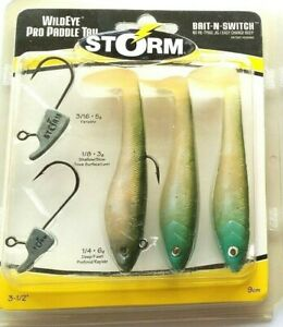 """Olive Pearl - Storm WildEye Pro Paddle Tail 3-1/2"""" WPPT35OLPRL 3.5""""    Item T 37"""