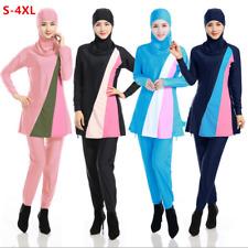 Modesty Muslim Swimwear Women Full Cover Islamic Beachwear Swimsuit S-4XL Lot AU