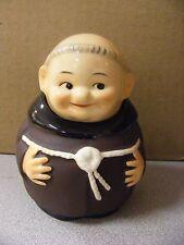 Goebel - Monk-Friar Tuck - 2 Part Sugar Bowl Mustard Jelly Jar Z37-W Germany