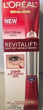 L'Oreal Revitalift Deep Set Wrinkle Repair 24HR AM/PM Eye Cream DUO 0.2 oz 6ml