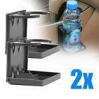 2x Universal Folding Drink Cup Holder Mount Boat Marine Caravan Car Rv Gray Uk