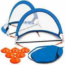 Training Equipment So200Y19001 2.5 Foot Pop Up Soccer Goal Game with Disc Cones