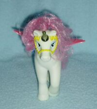 Vintage Buddy L Corp White Pegacorn with Wings Pony - Blue Saddle Yellow Bridle