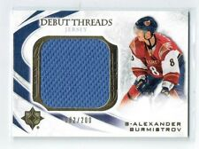 10-11 UD Ultimate Debut Threads  Alexander Burmistrov  /200  Jersey  Rookie
