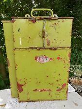 More details for vintage war time st johns ambulance metal first aid box case portable / hanging