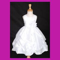 WHITE BAPTISM CHRISTENING COMMUNION BRIDAL FLOWER GIRL DRESS 6M 9M 2 4 5 6 8 10