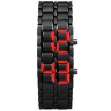 Iron Samurai Metal Bracelet LAVA Watch LED Digital Watches Hour Men Women Alloy