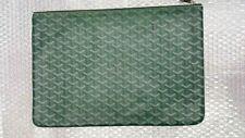 Goyard Senat Zip Pouch Coated Canvas Green