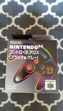 """Nintendo 64 BOXED """"Black & Grey"""" Controller CIB__Japan Exclusive N64"""