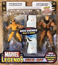 Marvel Legends Face-Off Wolverine Sabretooth Toy Biz