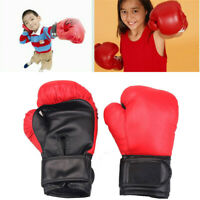 Kids Boxing Gloves Punching Bag Training Sparring Age 3-9