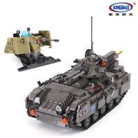 Bausteine Xingbao Ostern 1049PCS Militaär Serie Panzer Tank Waffen Spielzeug