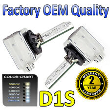 2 x 3000k Yellow D1S HID Xenon OEM Replacement Headlight Bulbs - 2 Year Warranty