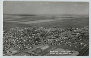 Vintage Rosetown Saskatchewan Canada Aerial View Real Photo Postcard RPPC