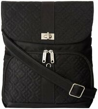 Travelon Anti Theft Flap Front Cross Body Bag Shoulder One Size Black Hobo RFID
