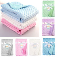 Newborn Baby Blanket & Swaddling Thermal Soft Fleece Blanket Bedding Quilt