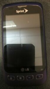 READ BEFORE YOU BUY LG LS670 Twigby CDMA Purple Cellular Phone Excellent Used