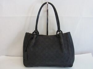 Auth WQ20 GUCCI GG canvas handbag with pouch from Japan