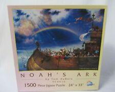 SUNSOUT NOAH'S ARK  1500 PIECE JIGSAW PUZZLE MIB  COMPLETE PRE OWNED
