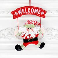 Santa Claus Snowman Ornament Christmas Decoration Door Home Xmas Decor