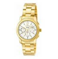 Invicta Women's Watch Angel Mother of Pearl Dial Yellow Gold Steel Bracelet 0465