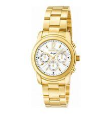Invicta женские часы ангел перламутровым циферблатом желтое золото стальной браслет 0465