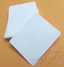 100pc of Blank Hair Clip Display Card in Thick Glossy White Paper for Accessory