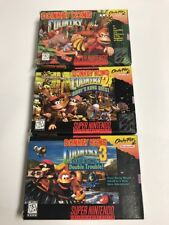 Donkey Kong Country 1 + 2 + 3 SNES Super Nintendo CIB Complete Lot